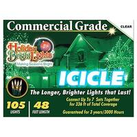 Holiday Bright Lights 105BX-IC-CL 105 Light Clear Icicle Light Set