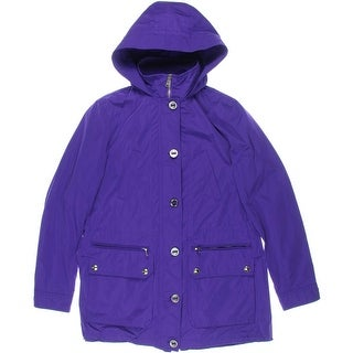 Lauren Ralph Lauren Womens Anorak Jacket Hidden Hooded Long Sleeves