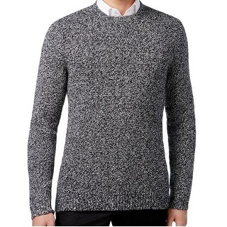 Calvin Klein NEW Black Mens Size XL Crewneck Boucle Marled Knit Sweater