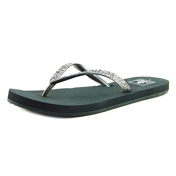 Reef Stargazer Women Open Toe Canvas Gray Flip Flop Sandal