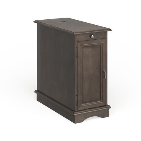 Furniture of America Terra Transitional Multi-storage Side Table