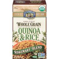 Lundberg Family Farms Organic Quinoa and Rice - Rosemary Blend - Case of 6 - 6 oz.