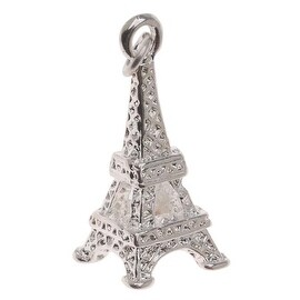 Silver Plated 3D Paris Eiffel Tower Charm 22mm (1)
