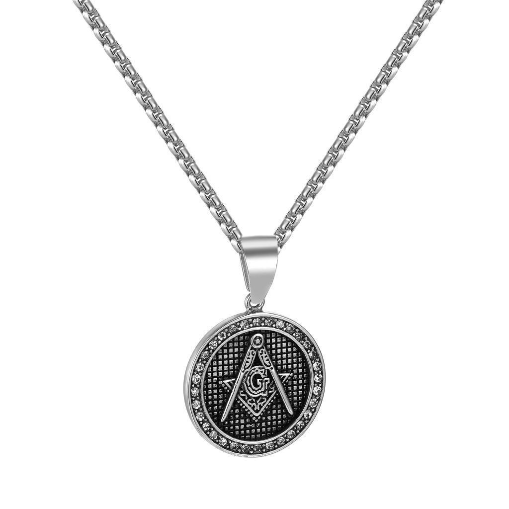 925 Silver. MASONIC MASON Pendant  H A N D M A D E