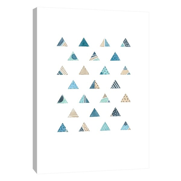 "PTM Images 9-105594 PTM Canvas Collection 10"" x 8"" - ""Quilted Triangles 2"" Giclee Patterns and Designs Art Print on Canvas"