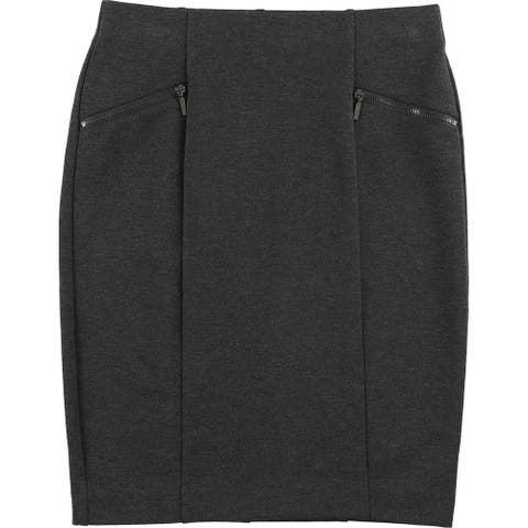 Alfani Womens Zip-Pocket Pencil Skirt