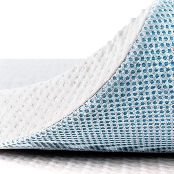 Subrtex Gel-Infused Memory Foam Bed Mattress Topper. Opens flyout.