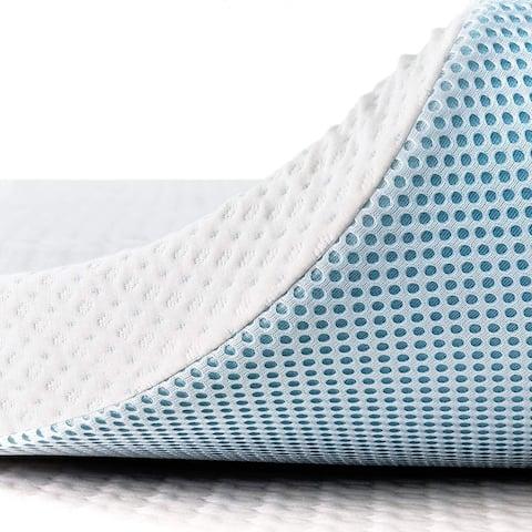 Subrtex Gel-Infused Memory Foam Bed Mattress Topper