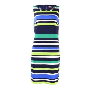 Vince Camuto Women's Sleeveless Embellished Striped Dress - 6
