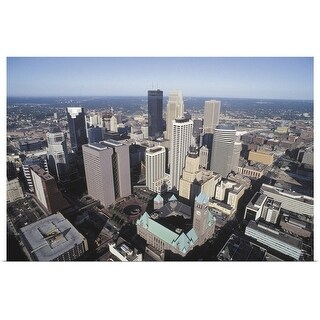 """Aerial view of downtown Minneapolis, Minnesota"" Poster Print"