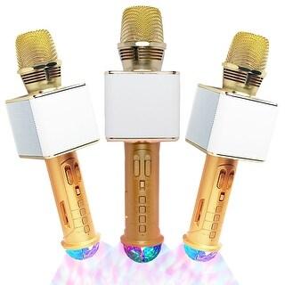 Wireless Karaoke Bluetooth Mic & Speaker & Disco LED for iOS & Android