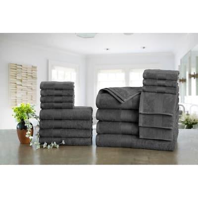 Ample Decor Premium Cotton 18-piece Towel Set, 4 Bath, 4 Hand, 10 Wash Towel