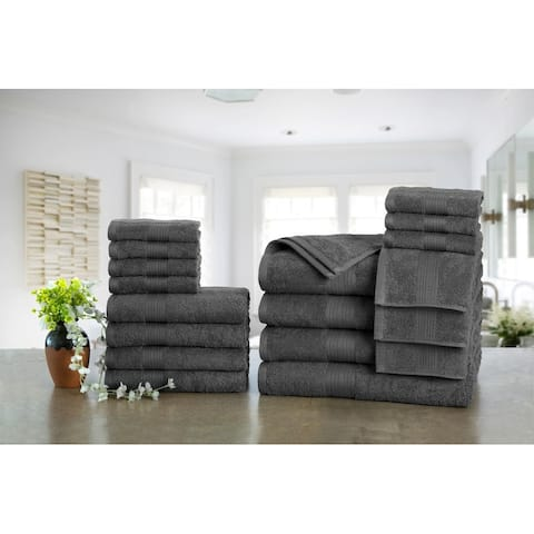 Ample Decor Premium Cotton 18-piece Towel Set