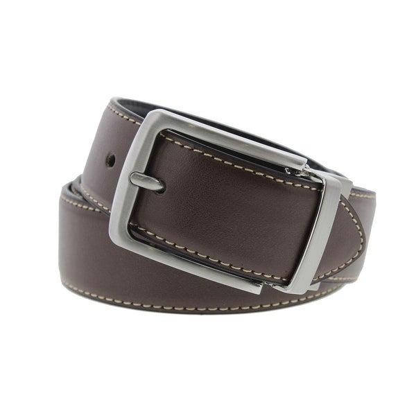 Steve Madden Mens Casual Belt Leather Reversible