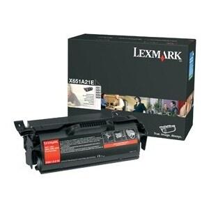 """Lexmark X651A21A Lexmark Black Toner Cartridge - Laser - 7000 Page - Black"""