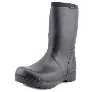 Bogs Food Pro Mid Men  Round Toe Synthetic Black Work Boot