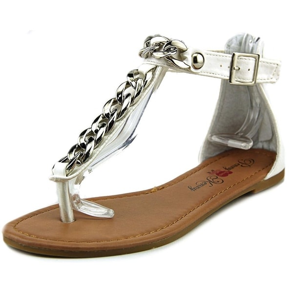 Penny Loves Kenny Troupe Women  Open Toe Synthetic White Gladiator Sandal
