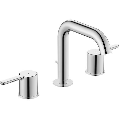 Duravit C11060 C.1 1 GPM Widespread Bathroom Faucet with Pop-Up Drain - Chrome