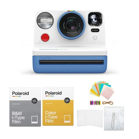 Polaroid Now VF i Type Instant Camera Blue Bundle with Film and Accessory Kit - N/A