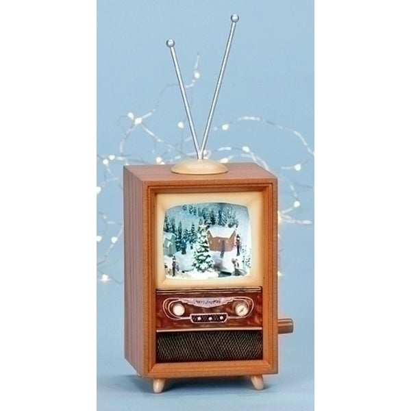 "10.5"" Amusements LED Lighted Animated and Musical Retro Christmas Television Set - multi"