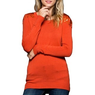 NE PEOPLE Womens Shoulder Sequined Spangle Sweater Top [NEWT307] (More options available)