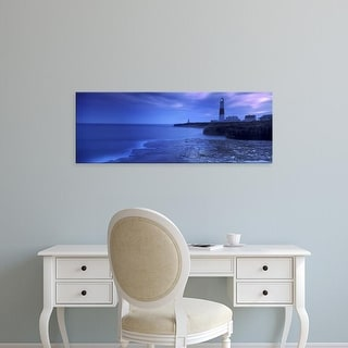 Easy Art Prints Panoramic Images's 'Lighthouse, Portland Bill Lighthouse, Isle of Portland, Dorset, England' Canvas Art