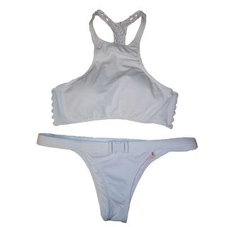 Victoria's Secret 2 Piece Swimsuit Bikini Racerback White Small