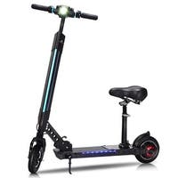 Goplus Foldable Electric Scooter with Removable Seat LED Bluetooth Speed Up to 15.5 MPH