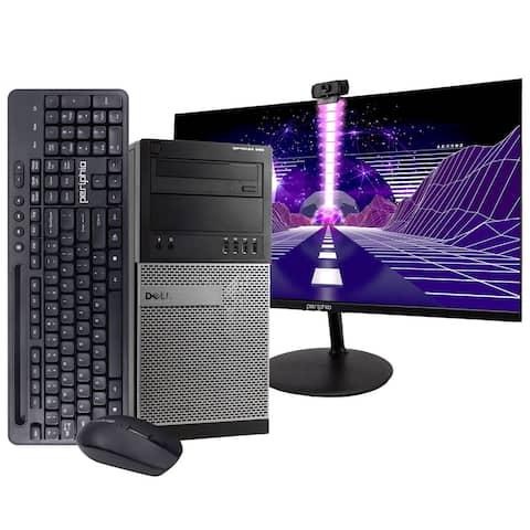 Dell 990 Intel i7 16GB 512GB SSD Windows 10 Pro WiFi Tower PC
