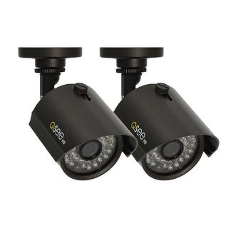 Q-See 2 Pack Add-On HD 720p Bullet Security Cameras - Black