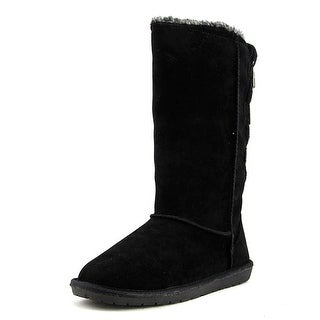 London Fog Edmond Women  Round Toe Canvas Black Winter Boot