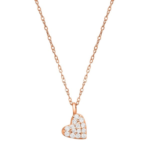 1/10 ct Diamond Heart Pendant in 14K Rose Gold