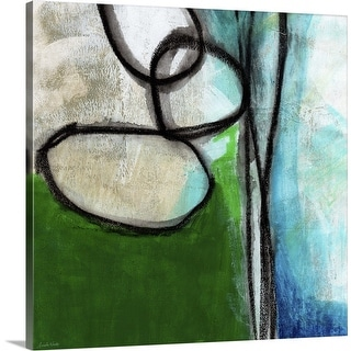 """""""Green And Blue Abstract"""" Canvas Wall Art"""