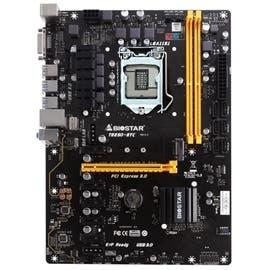 Biostar Motherboard TB250-BTC Core i7/i5/i3 LGA1151 B250 DDR4 SATA PCI Express USB ATX Retail