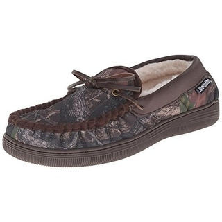 Northside Mens Norwood Faux Fur Camouflage Moccasin Slippers
