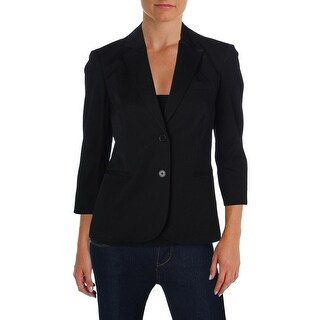 Lauren Ralph Lauren Womens Two-Button Blazer Twill Notch Lapel (4 options available)