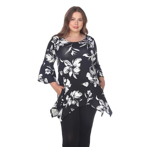 Plus Size Blanche Tunic Top - Black