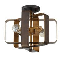 """Craftmade 48552 Linked 2-Light 14"""" Wide Semi-Flush Ceiling Fixture - aged bronze brushed - n/a"""
