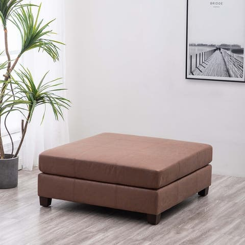"WOVENBYRD 40"" Square Rectangle Pillowtop Ottoman"