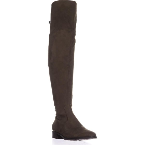Ivanke Trump Lnde Over The Knee Lace Up Boots, Dark Green