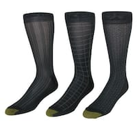 Gold Toe Men's Fashion Moisture Control Dress Socks (3 Pair Pack)