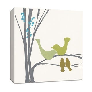 """PTM Images 9-153131  PTM Canvas Collection 12"""" x 12"""" - """"Bird Inspiration IV"""" Giclee Birds Art Print on Canvas"""