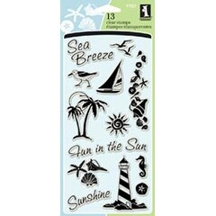 "Coastal - Inkadinkado Clear Stamps 4""X8"" Sheet"