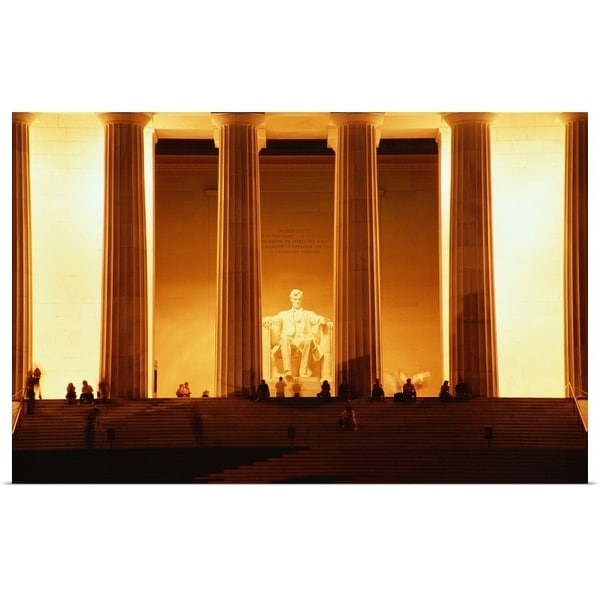 """Lincoln Memorial, Washington DC"" Poster Print"