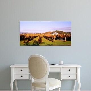 Easy Art Prints Panoramic Images's 'Vineyard Napa Valley CA' Premium Canvas Art