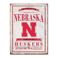 University of Nebraska Vintage Tin Sign