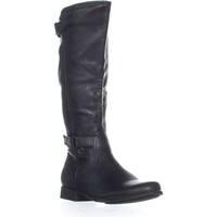 Hush Puppies Motivee Mid Calf Block Heel Boots, Black - 8.5 us / 40 eu