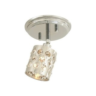 DVI Lighting DVP2481 Moondust Single-Light Track Lighting - chrome with clear optic glass