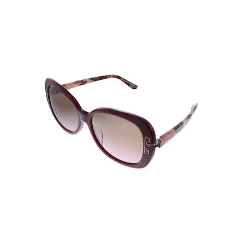 Tory Burch TY 7133U 138414 57mm Womens Bordeaux Frame Pink Gradient Lens Sunglasses