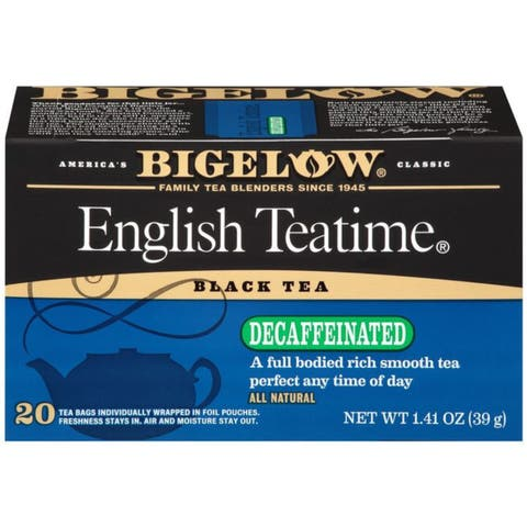 Bigelow English Teatime Black Tea Decaffeinated Tea Bags 1.41 Oz (Pack of 6)